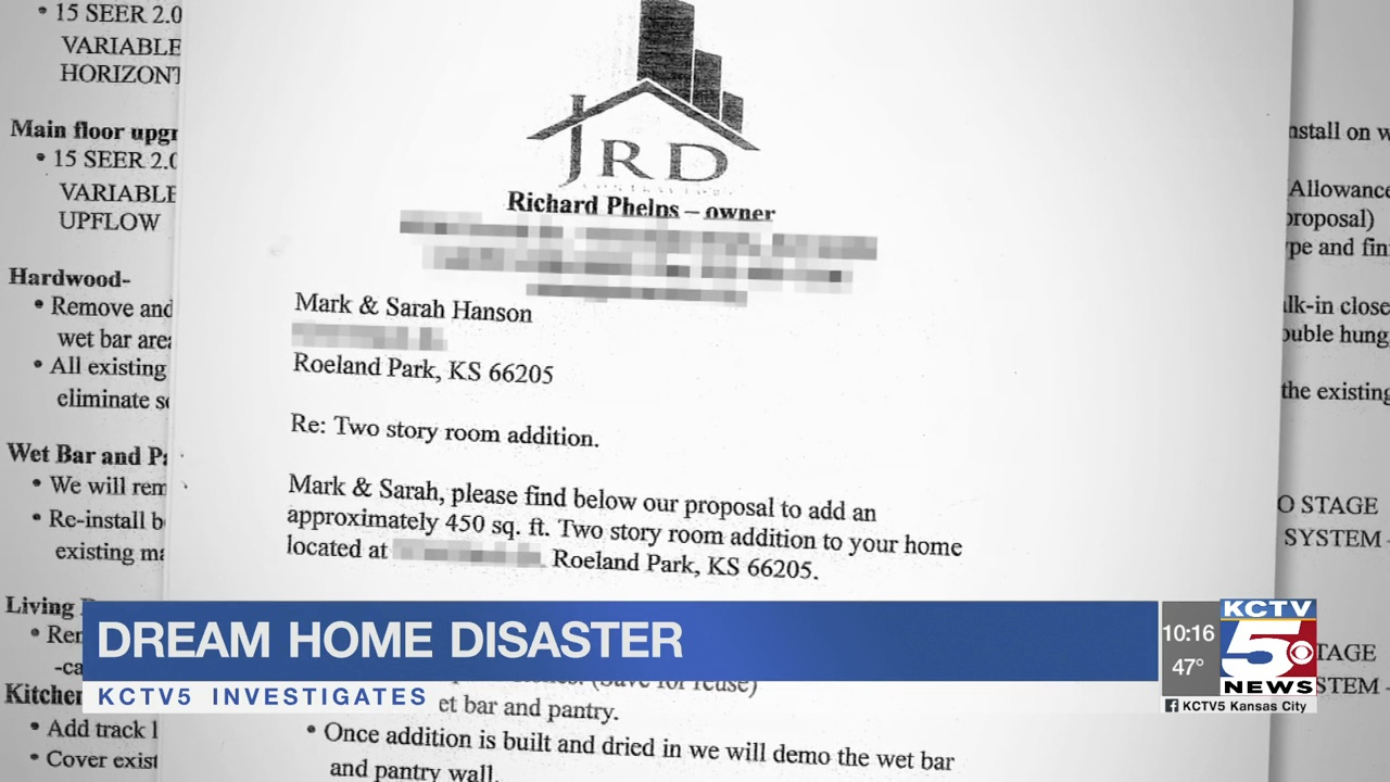 Dream home nightmare: Roeland Park family spent thousands but only got excuses