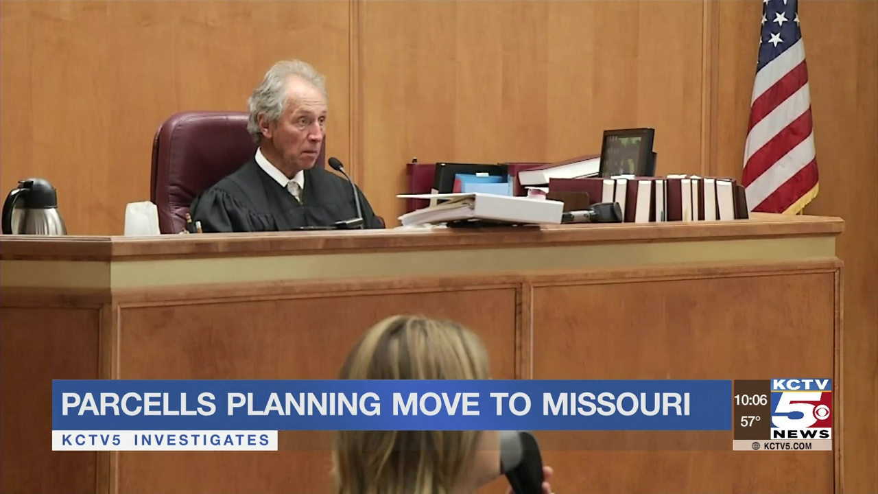Parcells tells judge he plans to move to Missouri