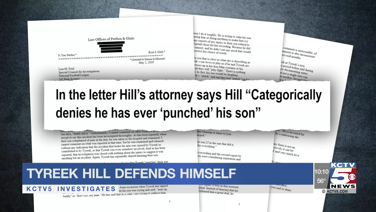 Tyreek Hill defends himself with letter from attorney