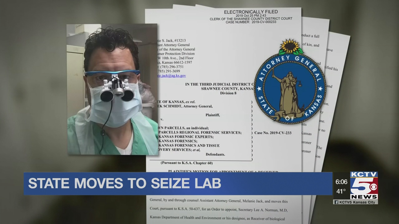 State moves to seize Shawn Parcells' Lab