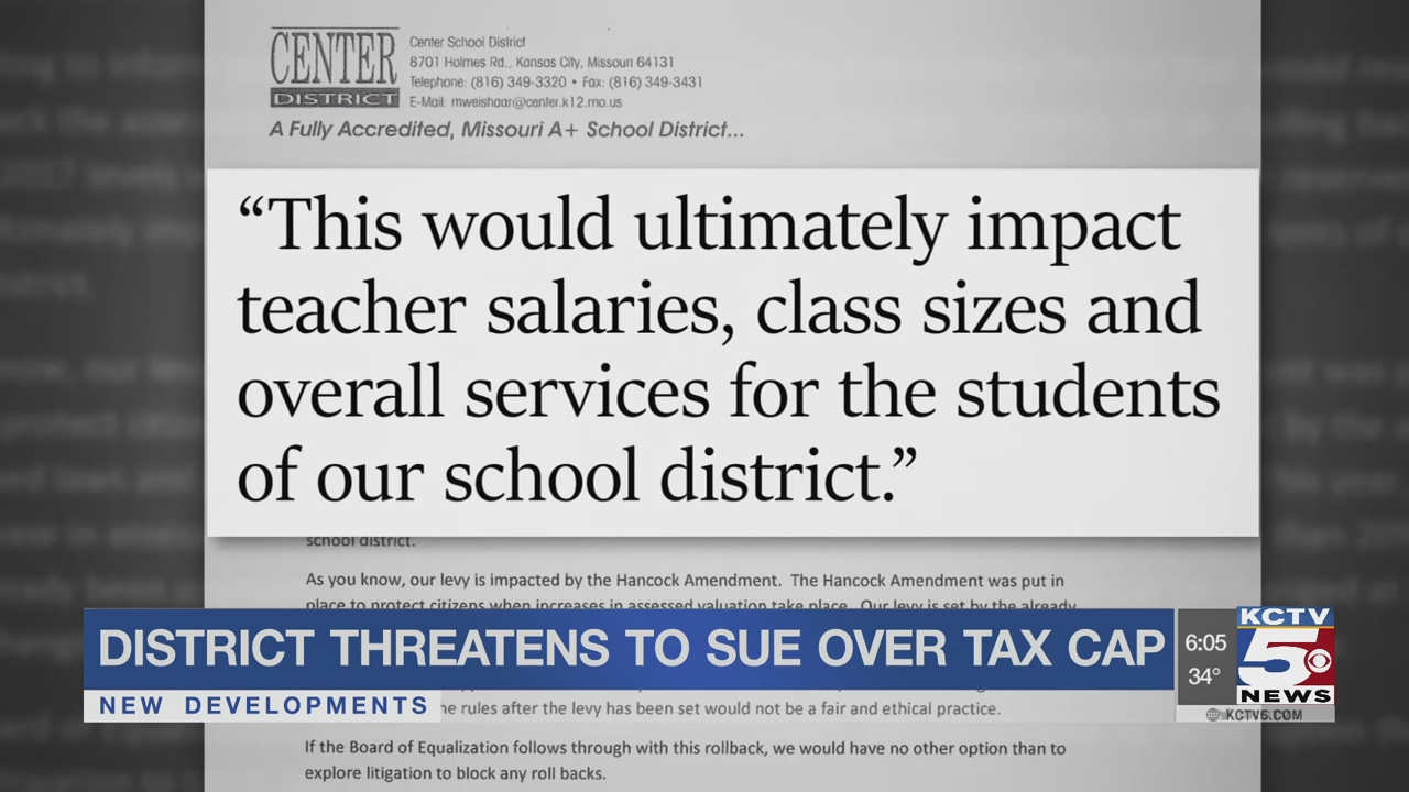 Center School District threatens to sue over tax cap