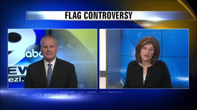 Image for Group of veterans upset with apartment complex's flag display rule