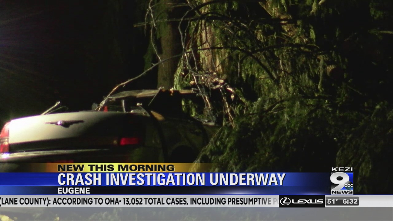 Image for Two people dead after crash in Eugene, Police investigating