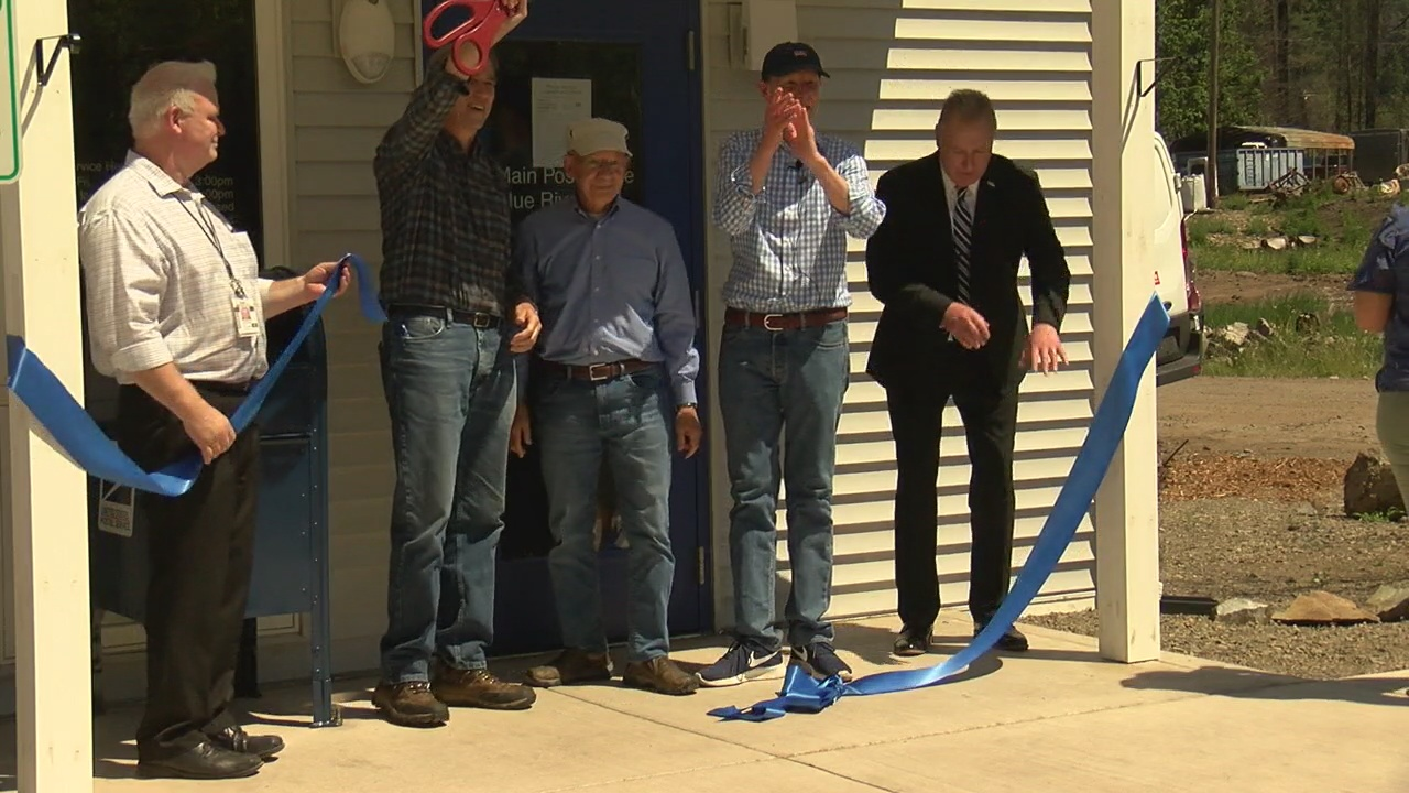 Image for Blue River post office reopens after wildfire