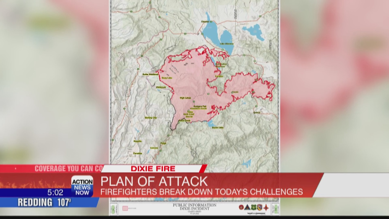 Image for Crews working on Dixie Fire containment while battling warm temperatures