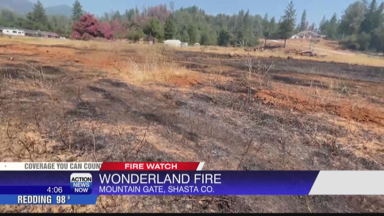 Image for Wonderland fire burned 4 acres Wednesday