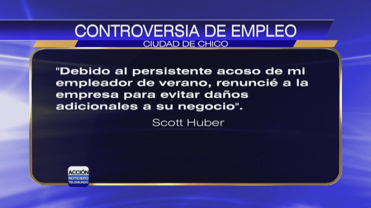 Image for Concejal Scott Huber renuncia a trabajo de verano tras polémica