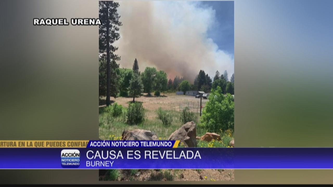 Image for Causa de un incendio en Burney es revelada