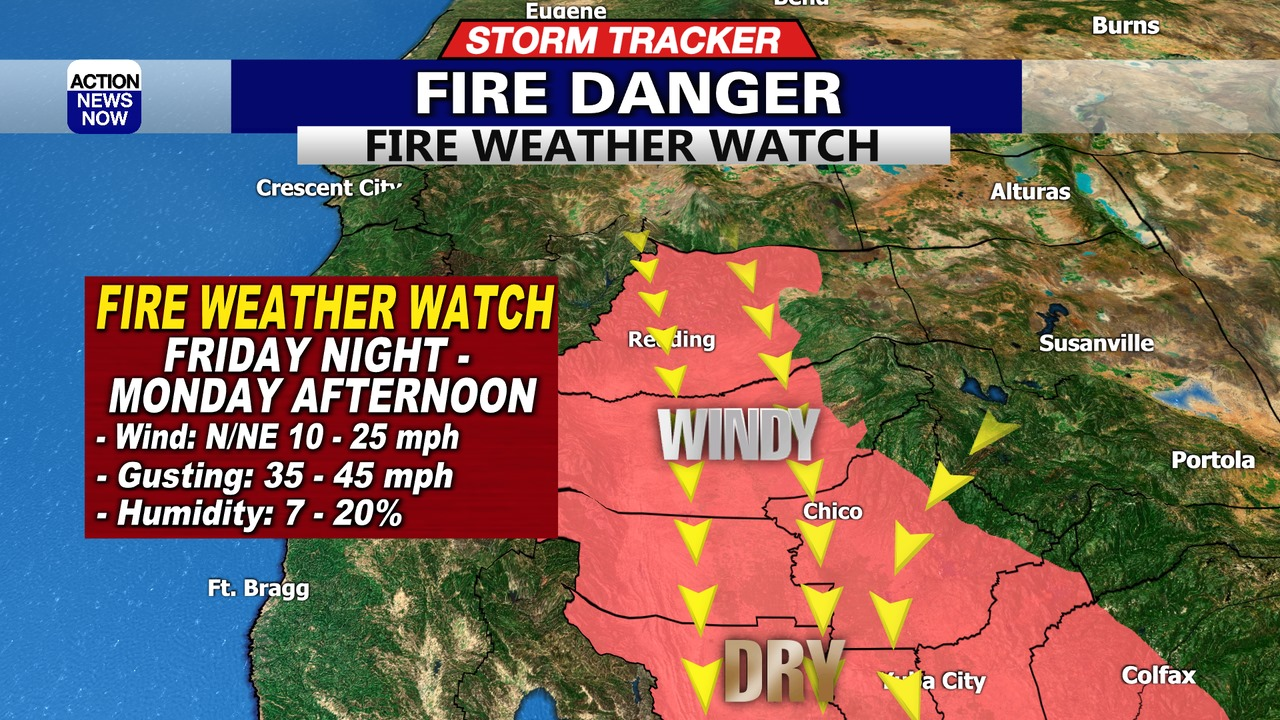 Image for Storm Tracker Forecast: Cooler today with high fire danger ahead