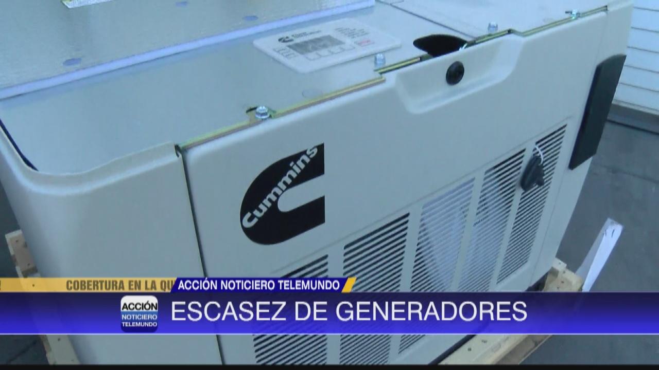 Image for Tiendas experimentan escasez de generadores