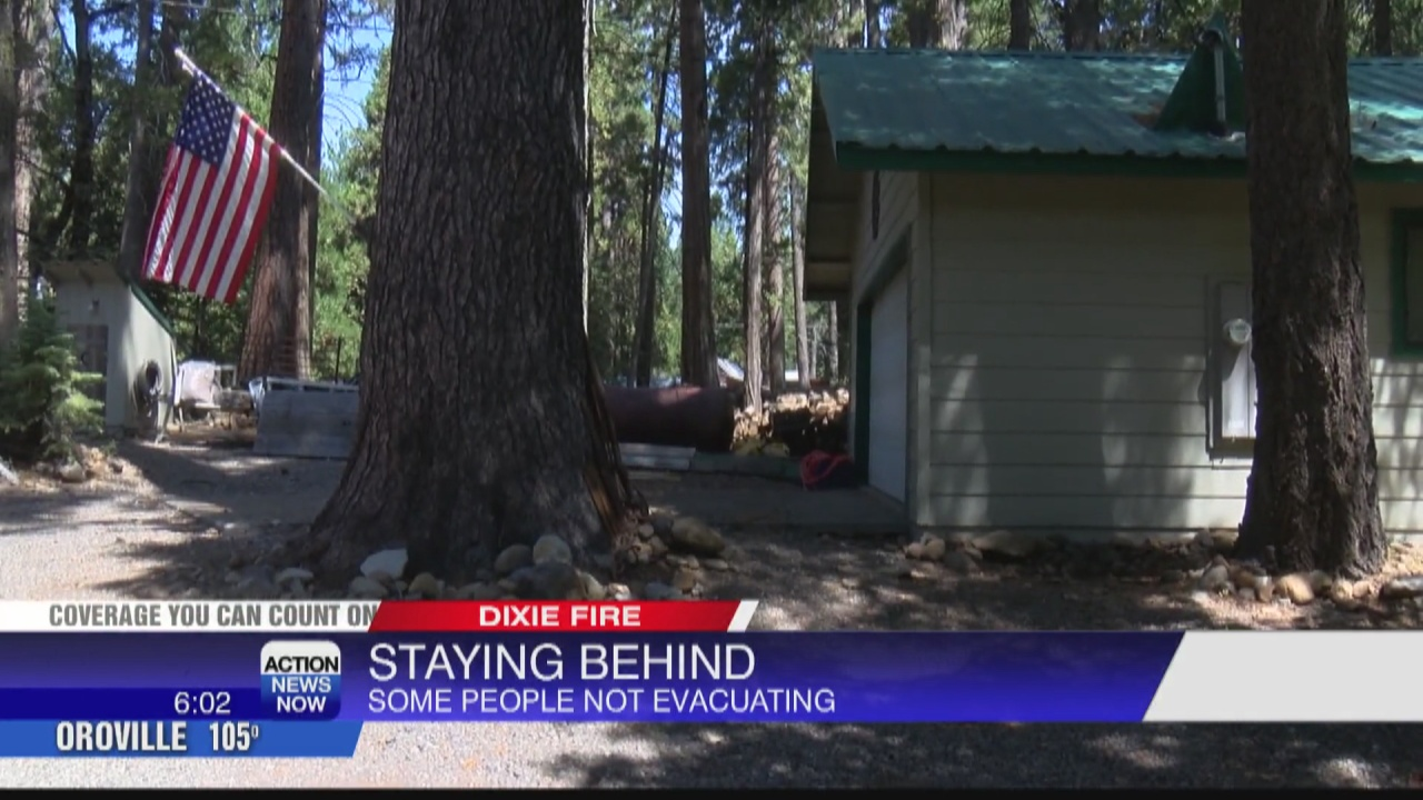 Image for Community members in Butte Meadows choosing to stay, despite evacuation orders