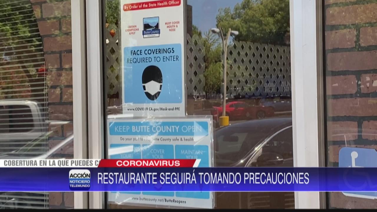 Image for Restaurante local toma precauciones tras reapertura de California