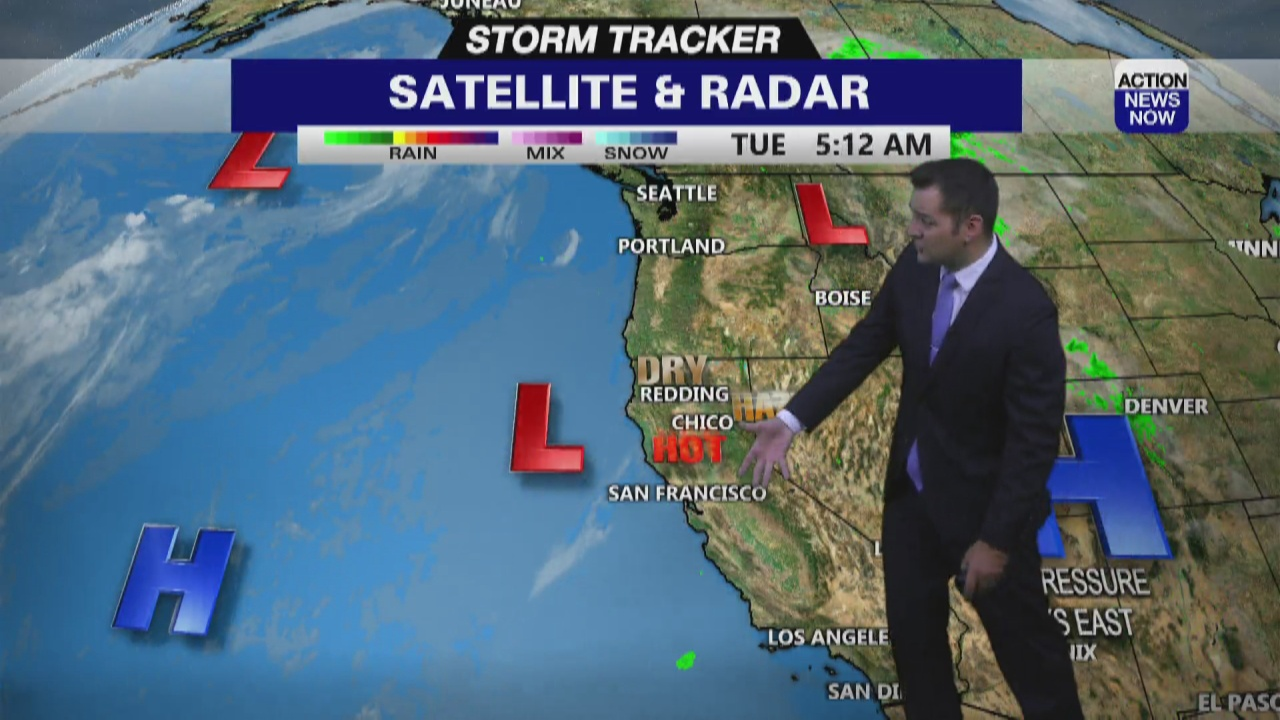 Image for Storm Tracker Forecast: Hotter with partly cloudy skies Tuesday