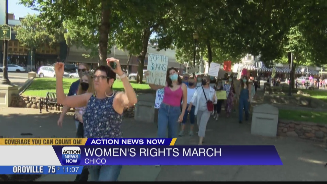 Image for Downtown Chico was location of Women's Right's march