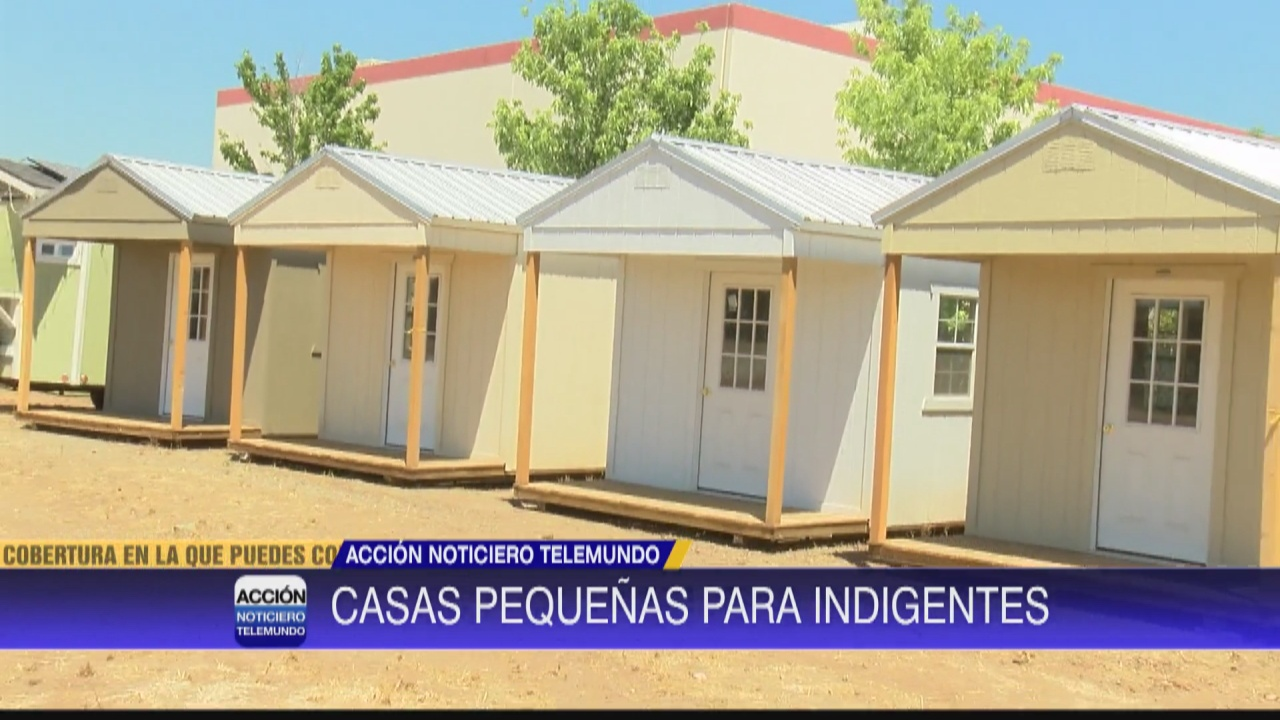 Image for Construyen casas pequeñas para indigentes