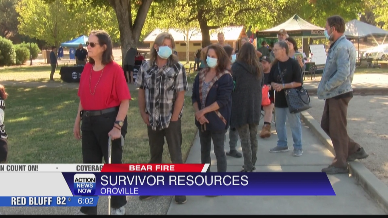 Image for A Bear Fire resource giveaway event was held at Hewitt Park in Oroville today
