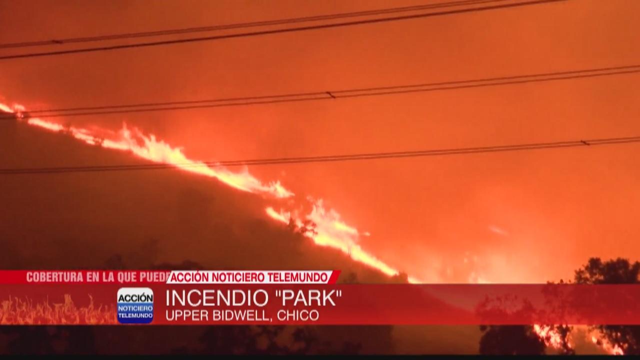 Image for Incendio 'Park' estalla en el parque Upper Bidwell en Chico