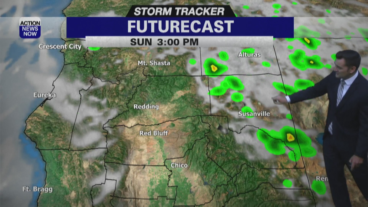 Image for Storm Tracker Forecast: Hot with more mountain thunderstorms Sunday