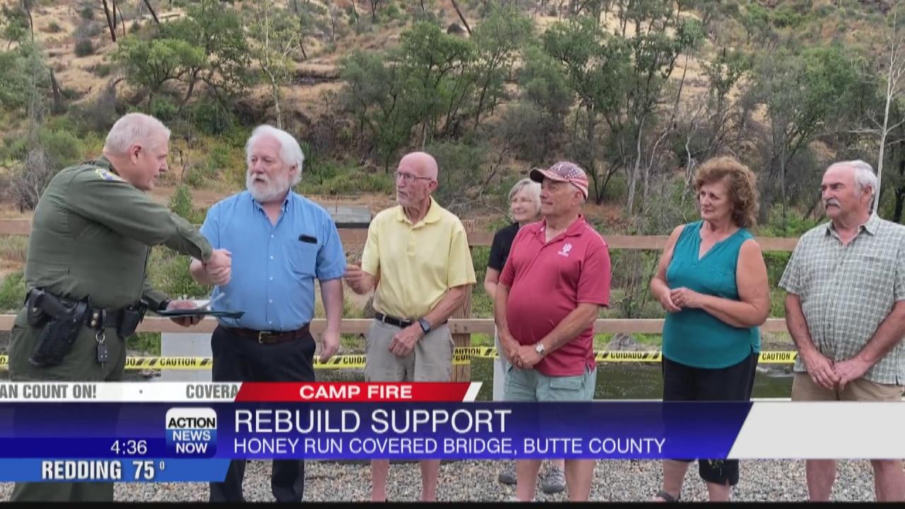 Image for Sheriff's Association donates to rebuild Honey Run Covered Bridge