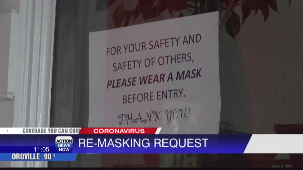 Image for State recommends re-masking for everyone indoors, some say they'll abide