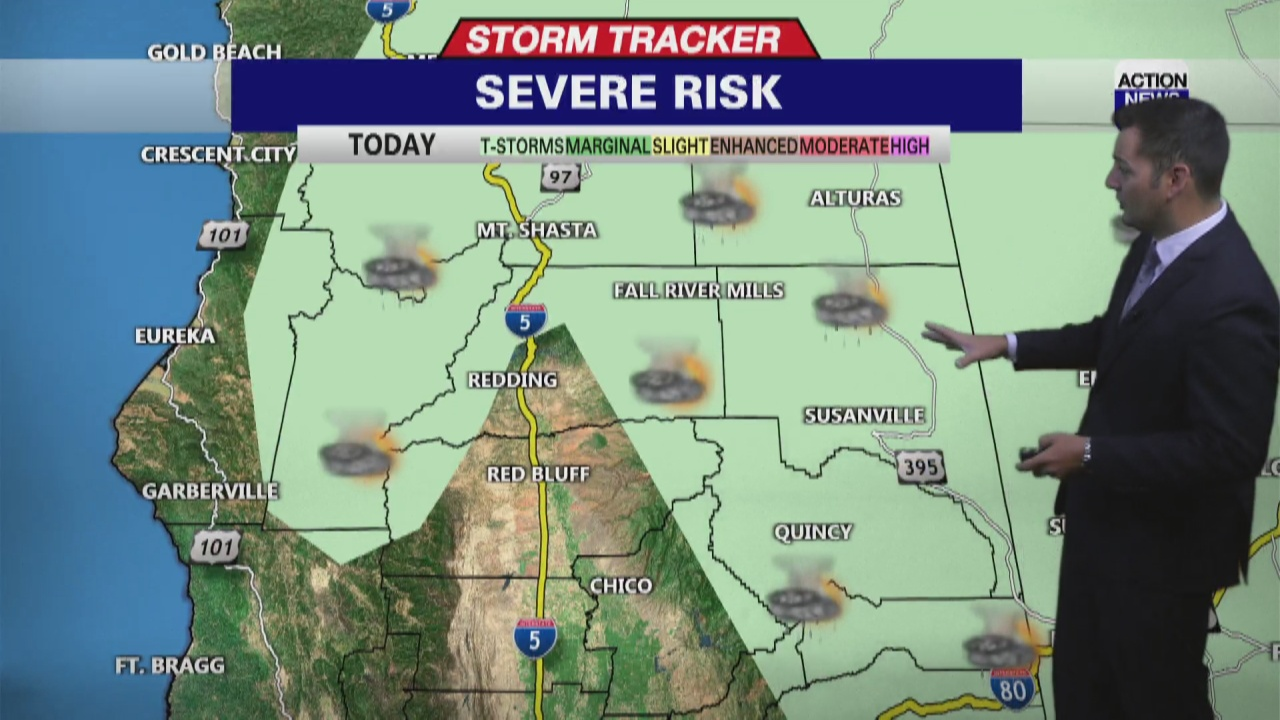 Image for Storm Tracker Forecast: Hot with mountain thunderstorms late week