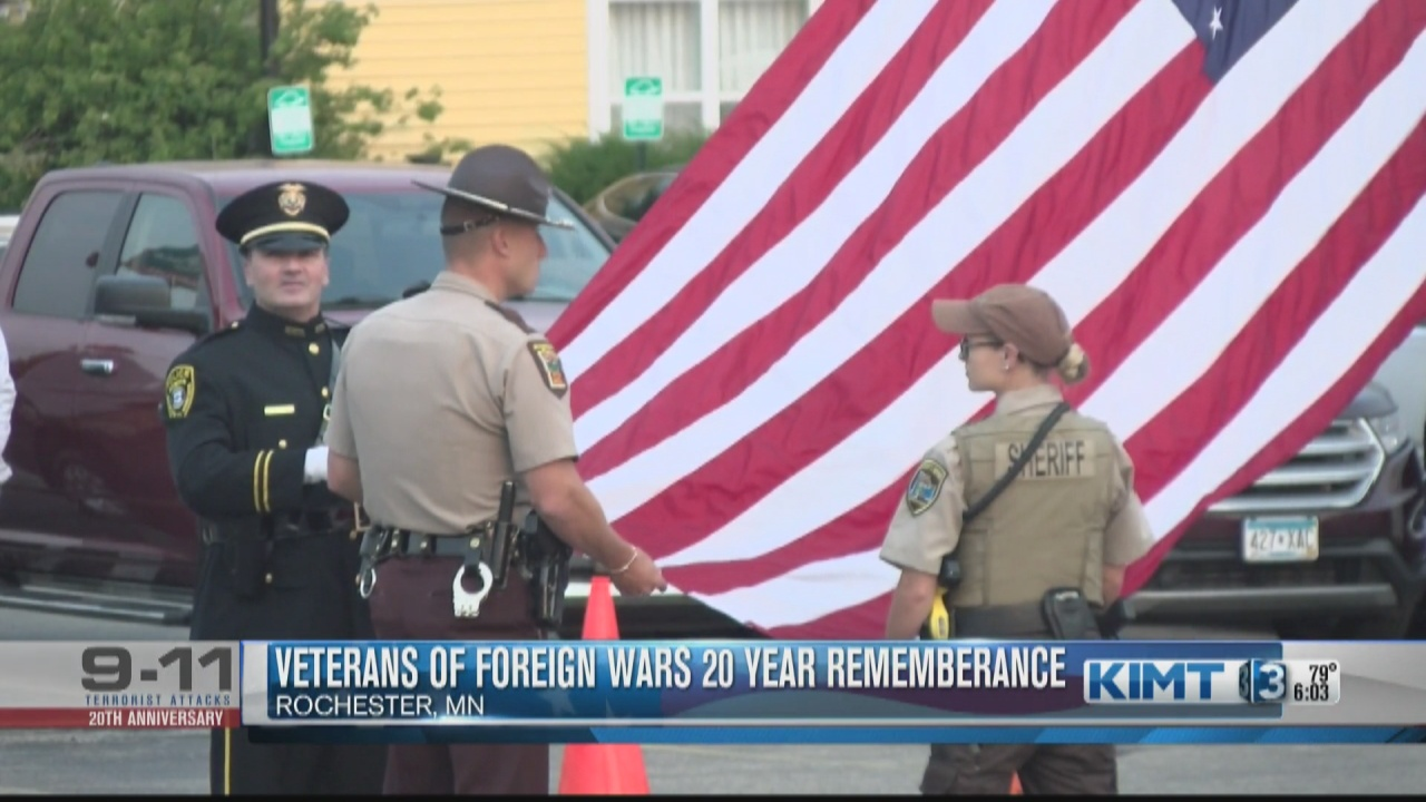 Image for Veterans of Foreign Wars hold 20 year remembrance ceremony