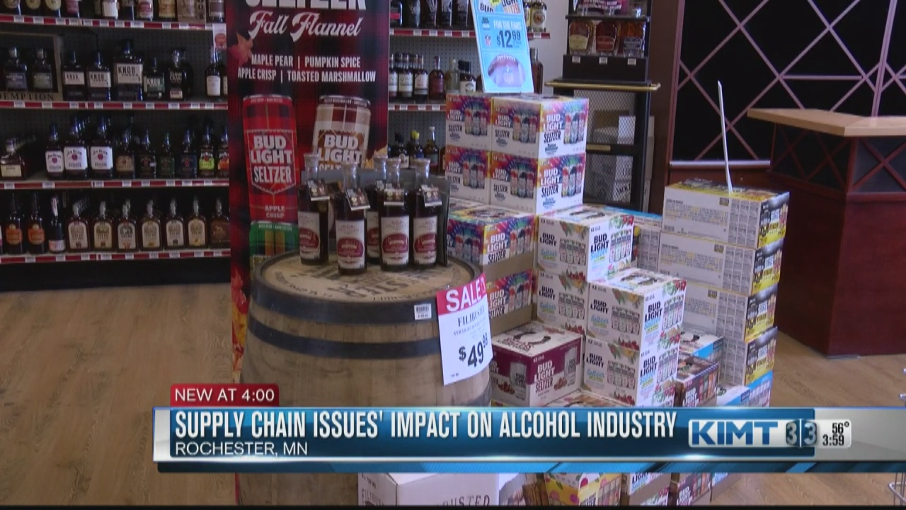 Image for Supply chain issues' impact on alcohol industry