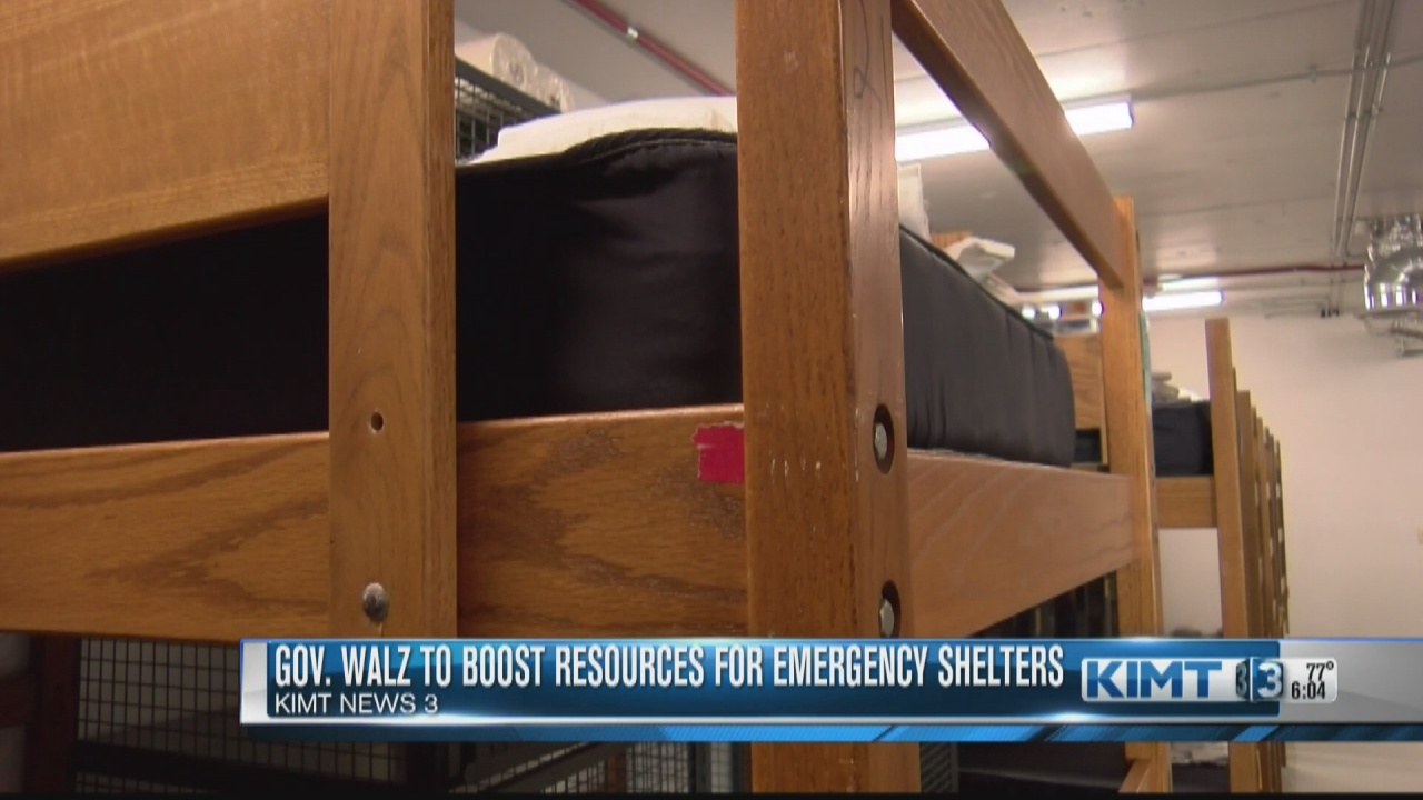 Image for Gov. Walz announces $15 million boost to emergency shelters statewide