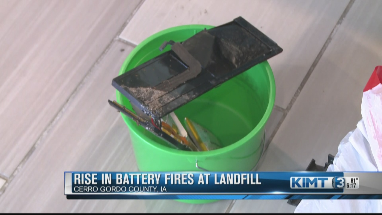 Image for Rise in battery fires at Landfill of North Iowa