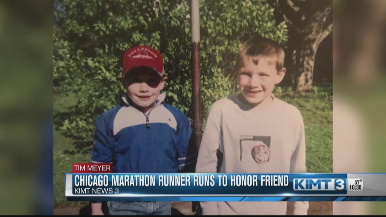 Image for A Rochester runner took part in the Chicago Marathon in honor of his friend