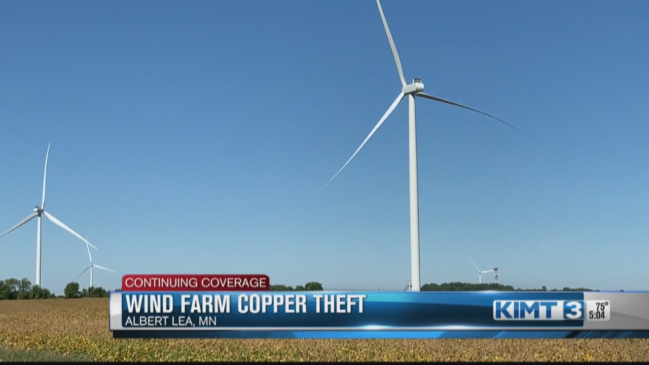 Image for Copper theft from an Albert Lea farm wind turbine