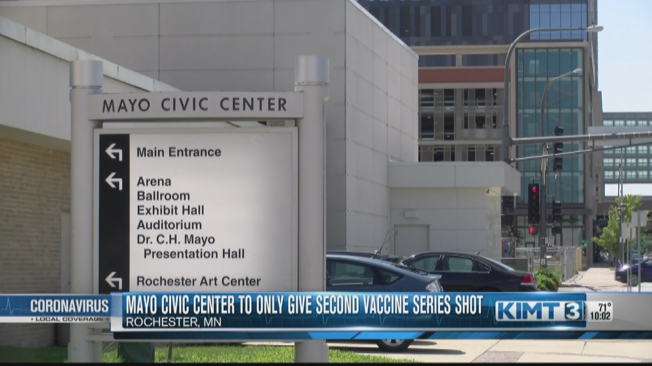 Image for Mayo Civic Center to only offer second vaccine series dose