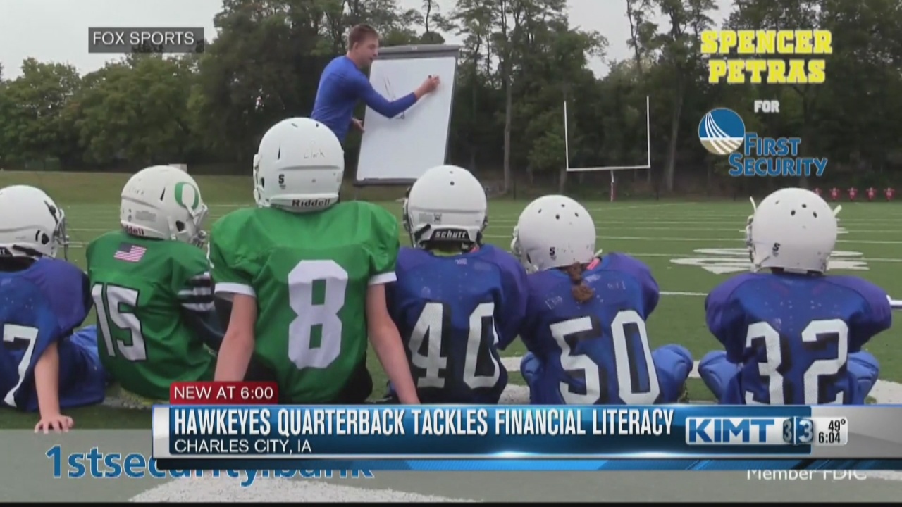 Image for Iowa Hawkeyes' Spencer Petras tackles financial literacy