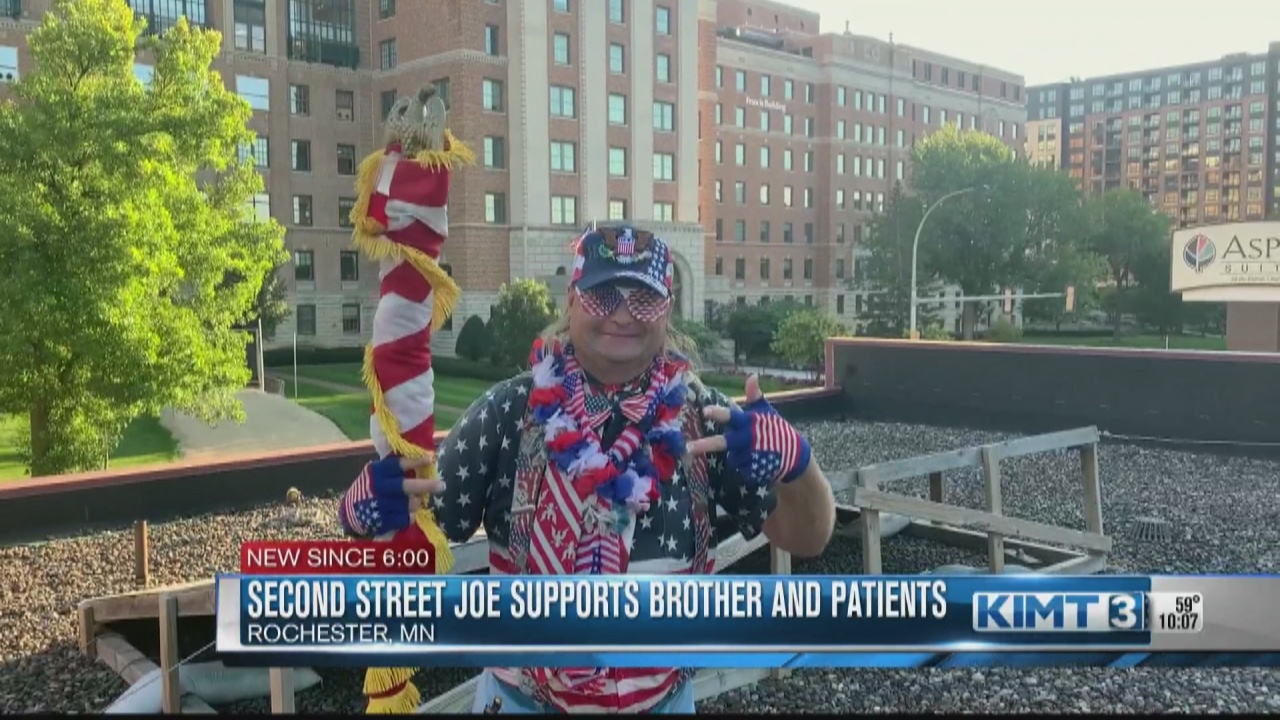 Image for Rochester's Second Street Joe cheers on frontline workers and patients