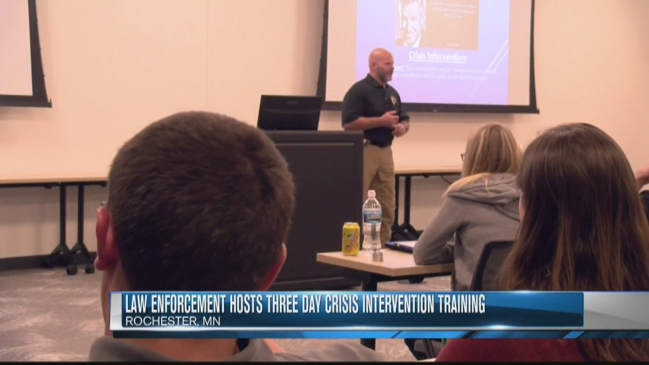Image for Law enforcement hosts three day crisis intervention training
