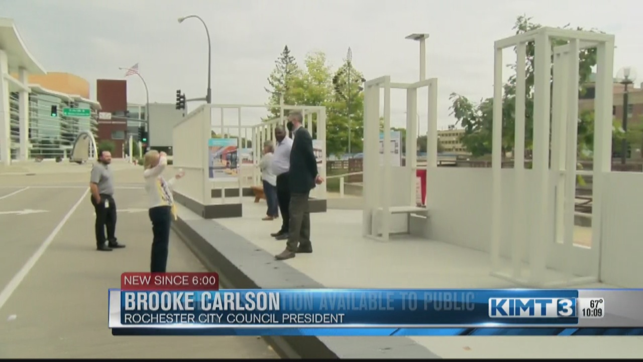 Image for DMC and City of Rochester unveil prototype bus stop