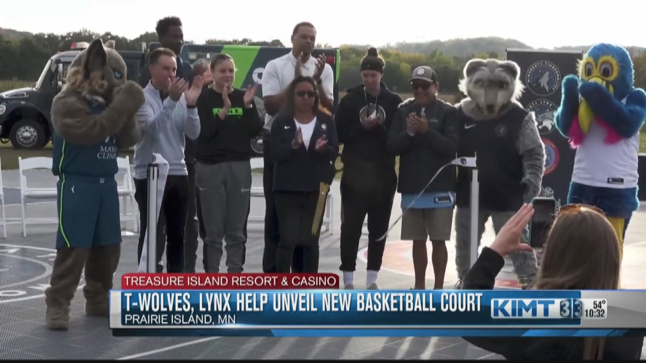 Image for Timberwolves and Lynx and Treasure Island unveil basketball court for Prairie Island Community
