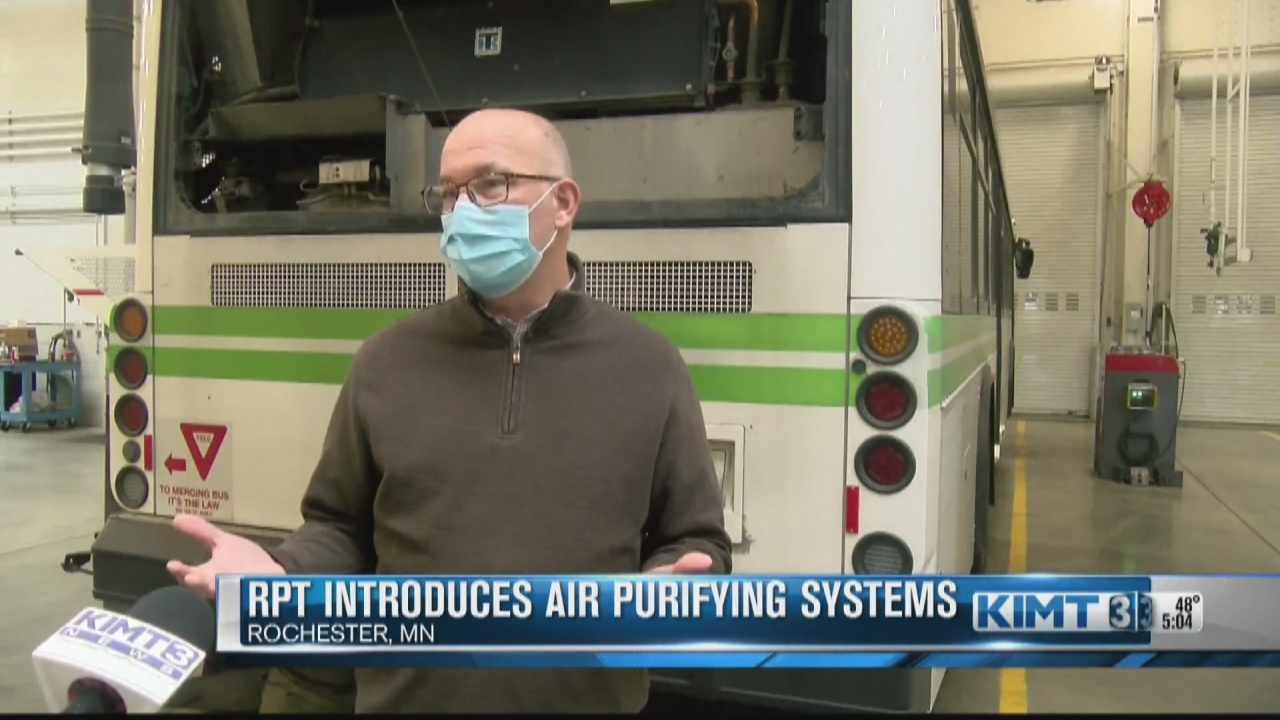 Image for Rochester Public Transit introduces advanced air purifying filters to busses