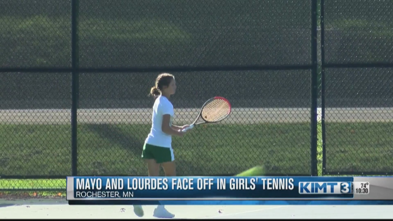 Image for Mayo and Lourdes girls' tennis teams take the court Monday afternoon