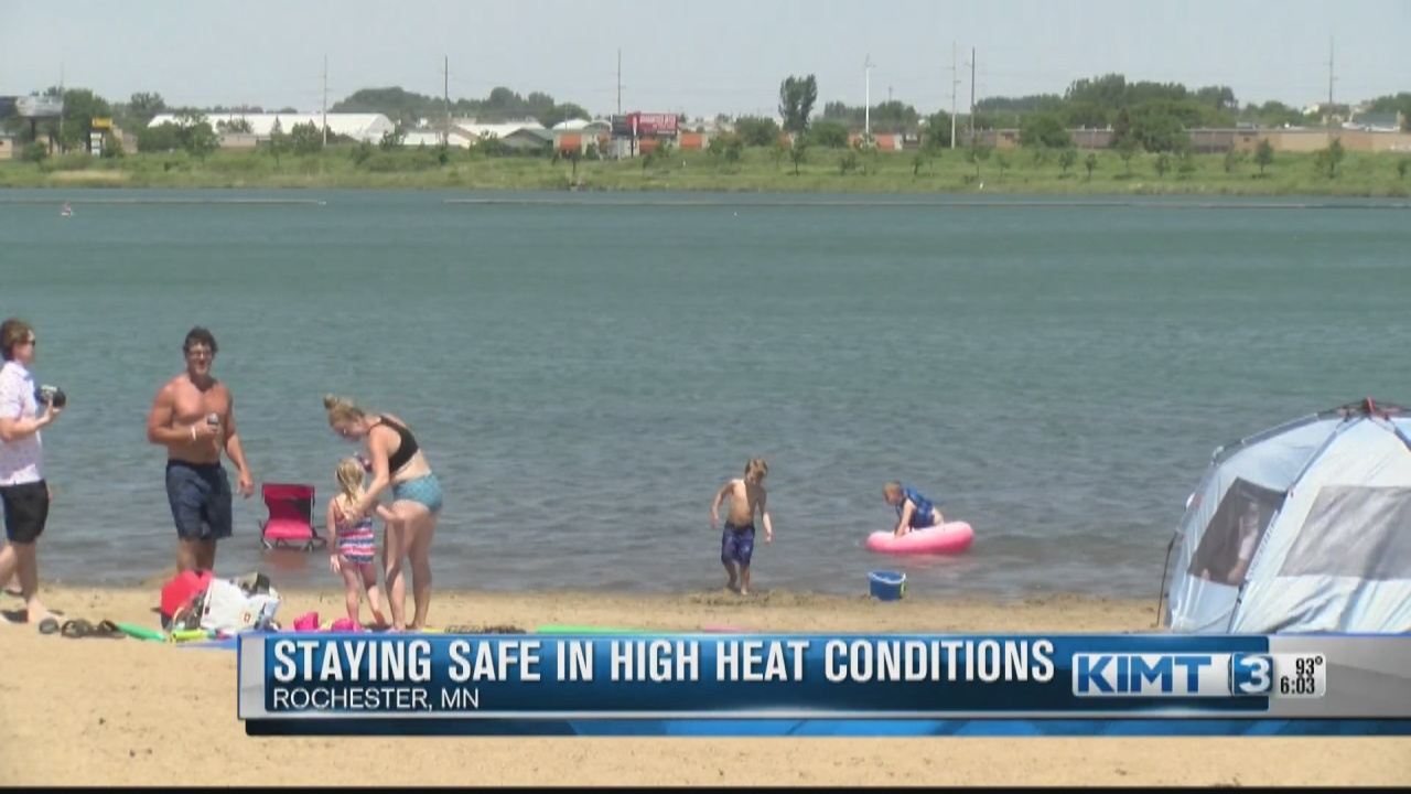 Image for Rochester cools off at Cascade Lake Beach on a scorching first weekend in June