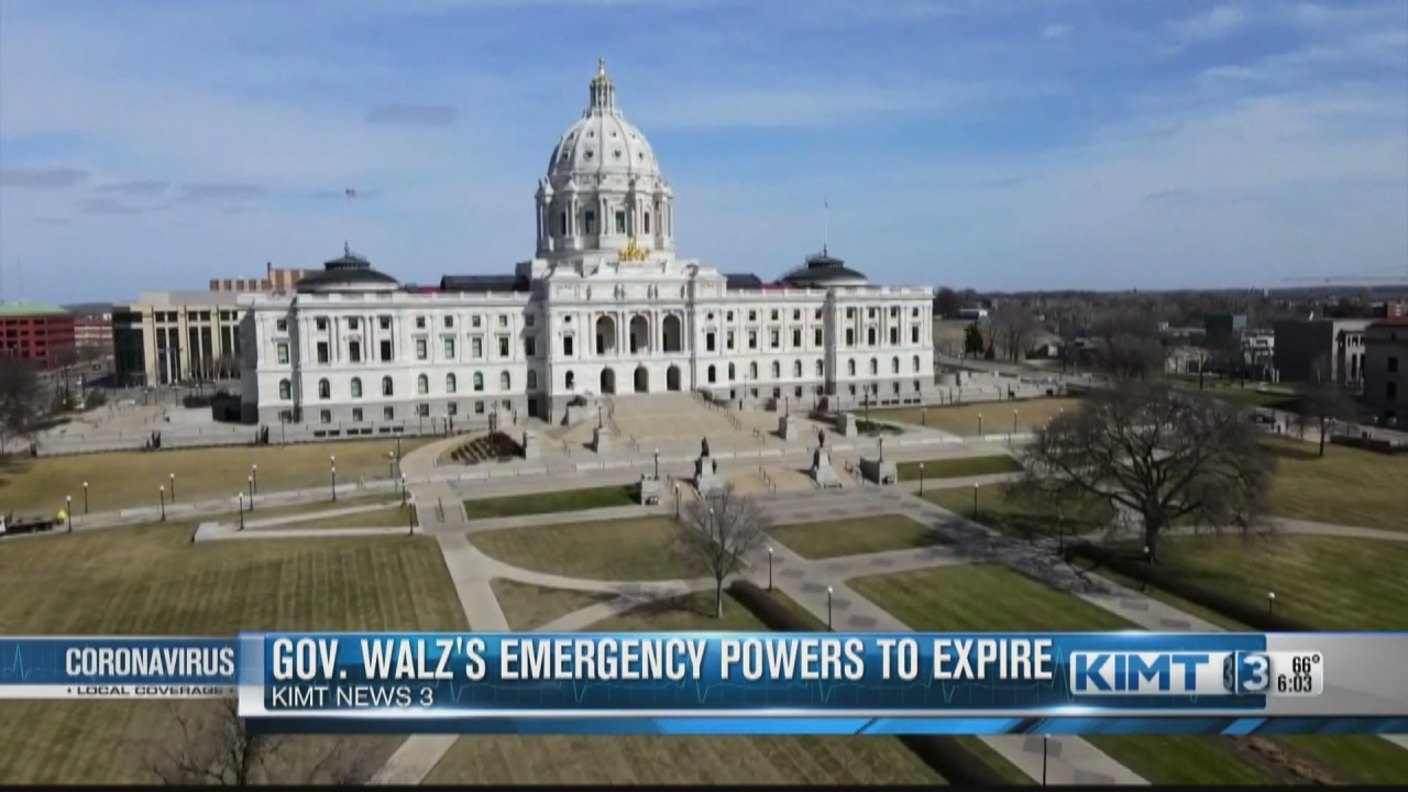 Image for Gov. Tim Walz will end his peacetime emergency orders by August 1st