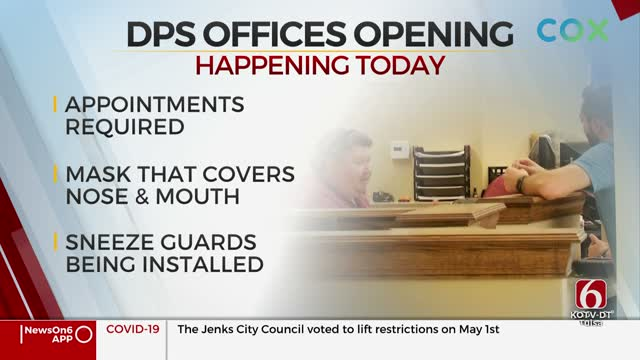 The Oklahoma Department of Public Safety Reopening Some Locations Friday