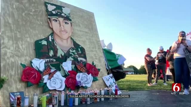 Tulsa Artist Paints Murals To Remember Fallen Soldiers