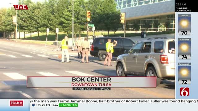 Cyclist Hit By SUV Near BOK Center