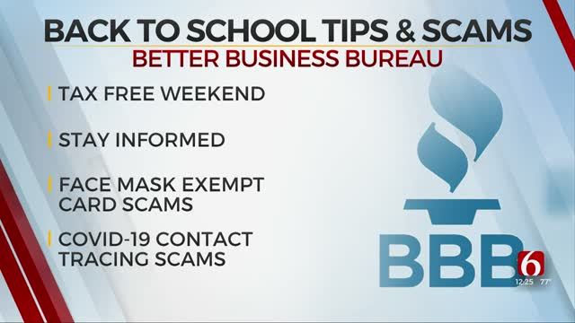 WATCH: BBB Offers Back-To-School Tips &  How To Avoid Scams