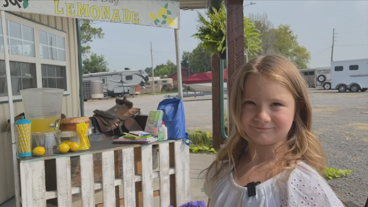 Wagoner 6-Year-Old Uses Lemonade Stand Money To Buy School Supplies For Others