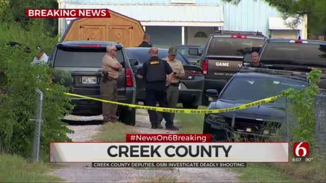 Deputies Investigate Deadly Shooting In Creek County