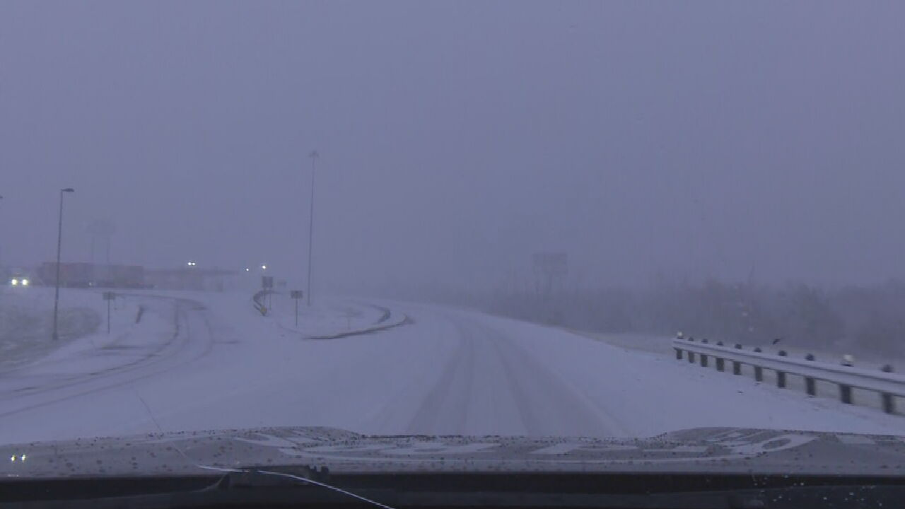 Law Enforcement Warns Of Slick Snowy Road Conditions
