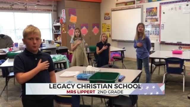 Daily Pledge: Mrs. Lippert's 2nd Grade Class