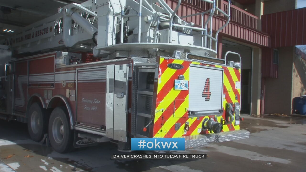Tulsa Firefighters Urge Drivers To Use Caution Following Wreck Involving Fire Truck